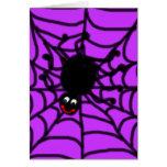 Tarjeta de felicitación feliz de la araña