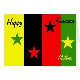 tarjeta de felicitación feliz de la madre de Kwanz