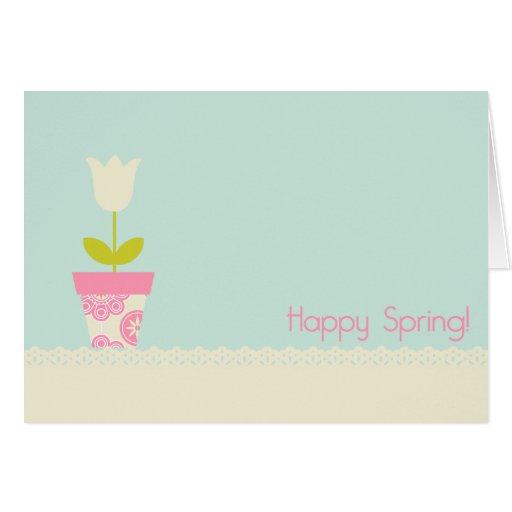 Tarjeta de felicitación feliz de la primavera