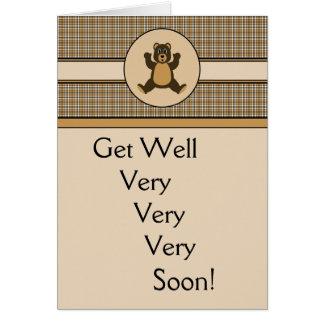 Tarjeta de felicitación feliz de la tela escocesa