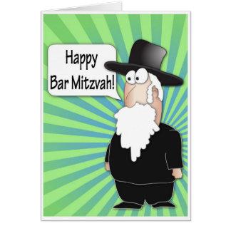 Tarjeta de felicitación feliz de Mitzvah de la bar