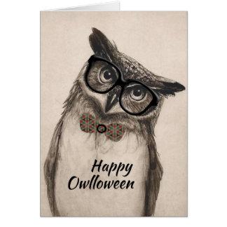 """Tarjeta de felicitación feliz de """"Owlloween"""""""