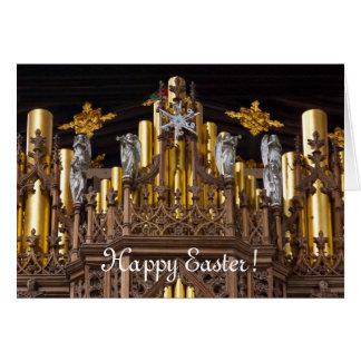Tarjeta de felicitación feliz de Pascua - catedral