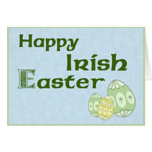 Tarjeta de felicitación feliz de Pascua del irland