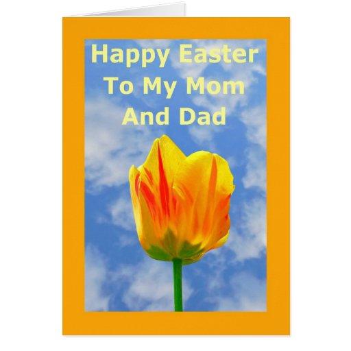 Tarjeta de felicitación feliz de Pascua para mis p