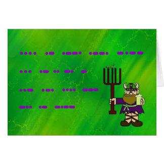 Tarjeta de felicitación feliz del código Morse del
