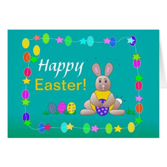 Tarjeta de felicitación feliz del conejo de