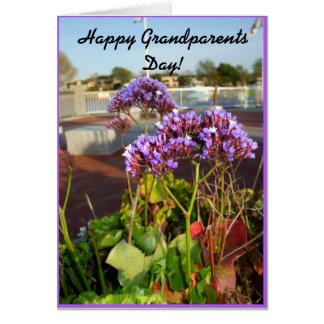 Tarjeta de felicitación feliz del día de los abuel