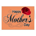 Tarjeta de felicitación feliz del día de madre