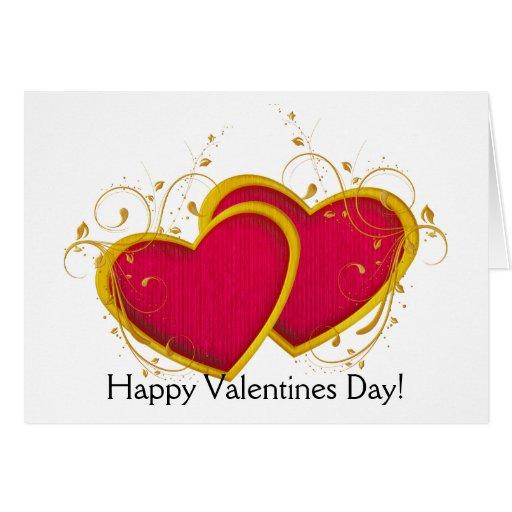 Tarjeta de felicitación feliz del día de San Valen