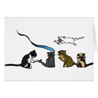Tarjeta de felicitación feliz del gatito del día d