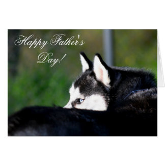 Tarjeta de felicitación feliz del husky siberiano