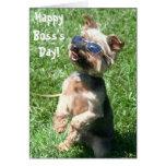Tarjeta de felicitación feliz del terrier de Yorks