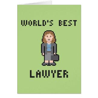 Tarjeta de felicitación femenina del abogado del