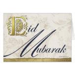 Tarjeta de felicitación floral de Eid Mubarak