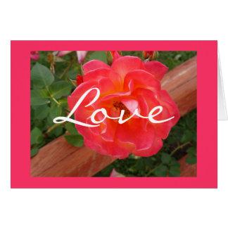 Tarjeta de felicitación floral del amor adaptable