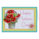 Tarjeta de felicitación floral del día de madres