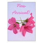 Tarjeta de felicitación floral del nuevo de la