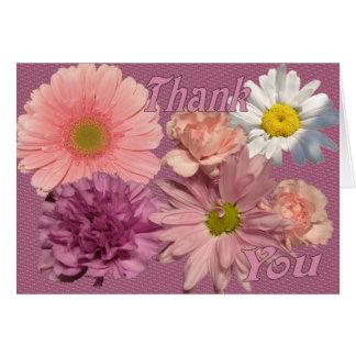 Tarjeta de felicitación floral del placer