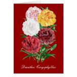 Tarjeta de felicitación floral del vintage