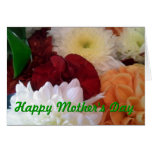 Tarjeta de felicitación floral dulce del día de