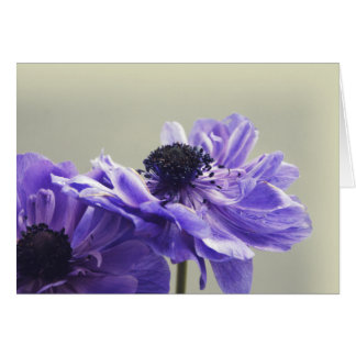 Tarjeta de felicitación floral púrpura de la