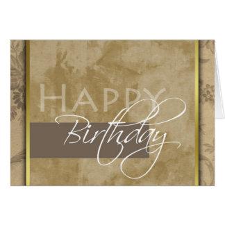 Tarjeta de felicitación formal del feliz cumpleaño