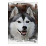 Tarjeta de felicitación fornida del perro