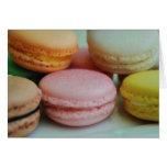 Tarjeta de felicitación francesa del macaron