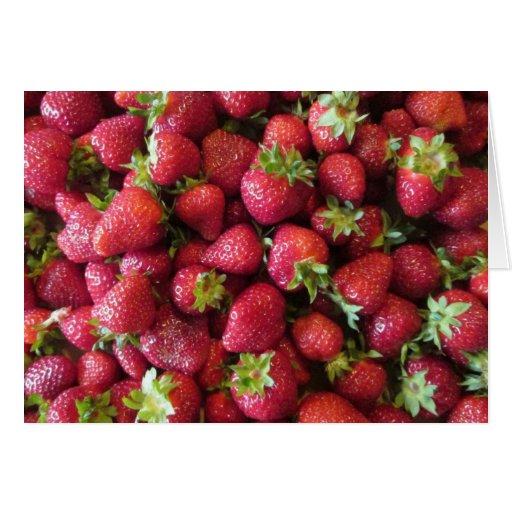 Tarjeta de felicitación - fresas del verano