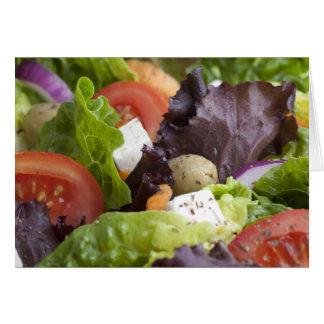Tarjeta de felicitación fresca de la ensalada