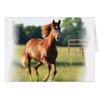 Tarjeta de felicitación galopante del caballo de l