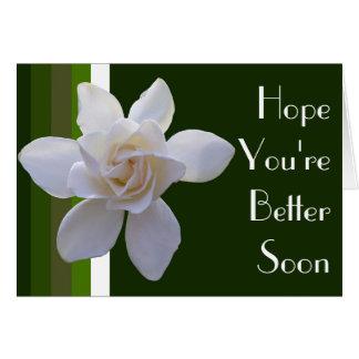 Tarjeta de felicitación - Gardenia en rayas