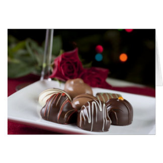 Tarjeta de felicitación gastrónoma de los chocolat