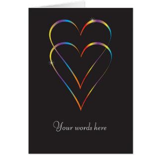 Tarjeta de felicitación gay del amor