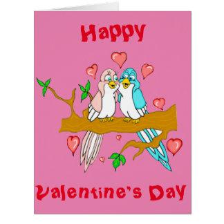 Tarjeta de felicitación gigante de los Lovebirds
