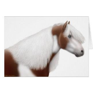 Tarjeta de felicitación gitana del caballo de la p