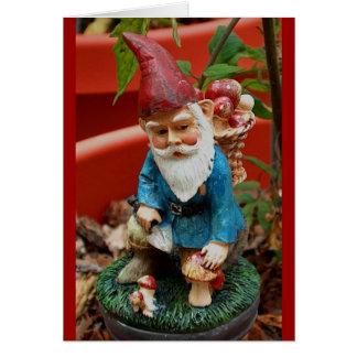 tarjeta de felicitación - gnomo del jardín