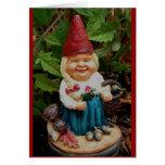 tarjeta de felicitación - gnomo del jardín de la s