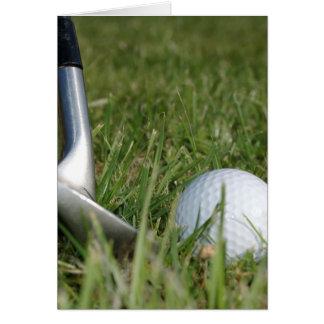Tarjeta de felicitación Golfing de la foto