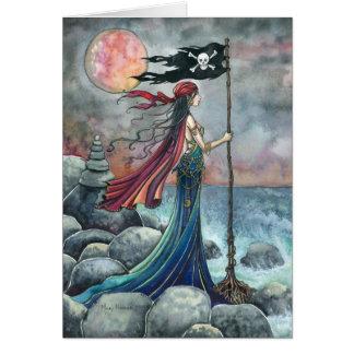 Tarjeta de felicitación gótica del arte de la fant