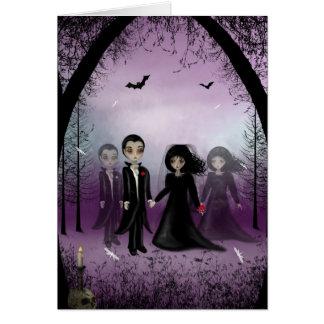 Tarjeta de felicitación gótica del boda