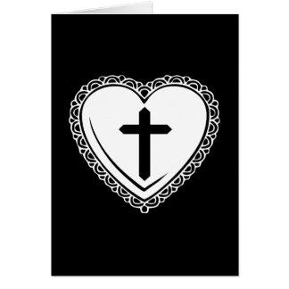 Tarjeta de felicitación gótica del corazón y de la