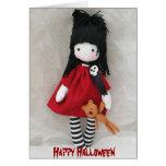 Tarjeta de felicitación gótica del feliz Halloween