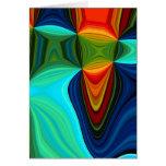 tarjeta de felicitación gráfica colorida