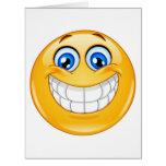 Tarjeta de felicitación GRANDE de la sonrisa - SRF