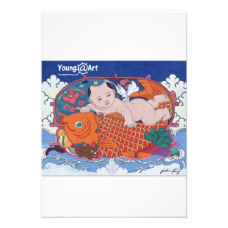 Tarjeta de felicitación grande de los pescados comunicados personales