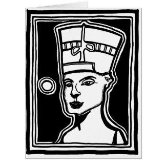 Tarjeta de felicitación grande de Nefertiti por