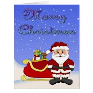 Tarjeta de felicitación grande de Santa de las Fel