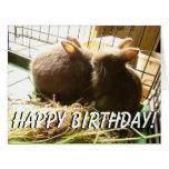 Tarjeta de felicitación grande del cumpleaños de l